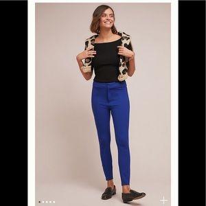 NWT Anthropologie Essential Royal blue Slim Pants